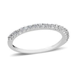 14K White Gold Diamond (Rnd) (I1/G-H) Single Row Band Ring 0.290 Ct.