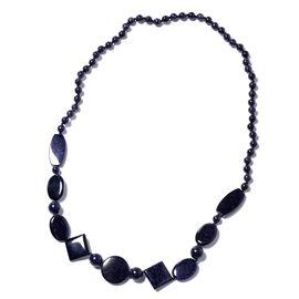 One Time Mega Deal-Blue Sandstone Necklace (Size 30)