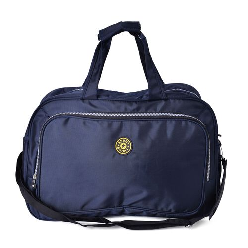 Navy Colour Travel Bag with Adjustable Shoulder Strap (Size 47X29X20 Cm)