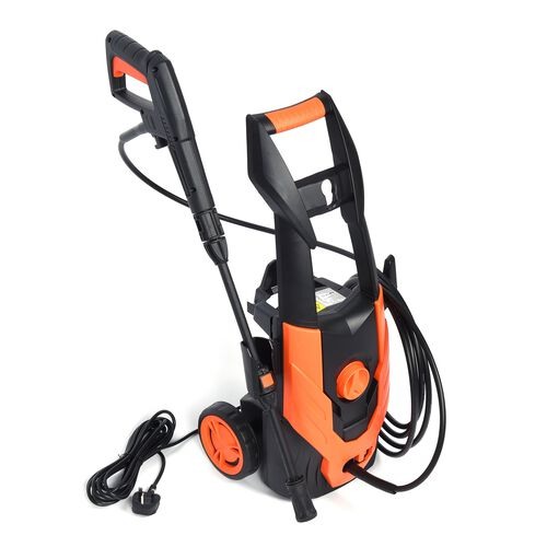 Multi Purpose High Pressure Cleaner with Adjustable Nozzle and Automatic On/Off Switch (Size 33.2x26.4x68.1 Cm) - Black and Orange