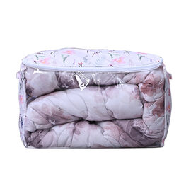 SERENITY NIGHT Floral Pattern Window Storage Bag (Size:60x37x37Cm) - White and Multi