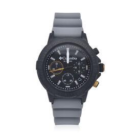 Columbia Peak Patrol Black Chronograph Day Date Grey Silicone Watch