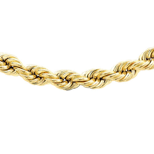 Hatton Garden Close Out- 9K Yellow Gold Rope Necklace (Size 28), Gold Wt. 16.77 Gms