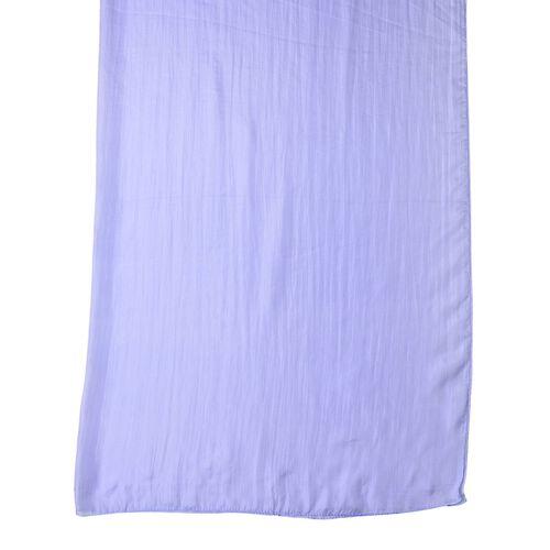 New Season - 100% Mulberry Silk Light Blue Colour Scarf (Size 180X100 Cm)
