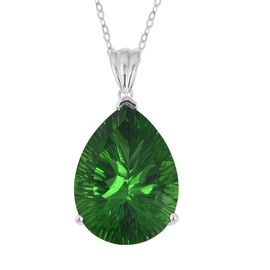 15.25 Ct Helenite Solitaire Pendant with Chain in Sterling Silver 6 Grams