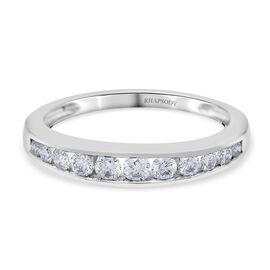 RHAPSODY 950 Platinum SGL Certified Diamond (VS / E-F) Half Eternity Band Ring 0.500 Ct.