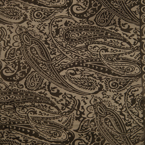 Black and Grey Colour Floral and Paisley Pattern Poncho (Size 90x90 Cm)
