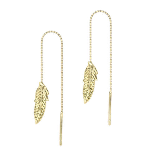 9K Yellow Gold  Earring( With Pin Post) ,  Gold Wt. 0.34 Gms