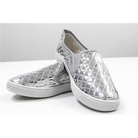 New for Season- Designer Inspired Silver Sneakers and Athletic Shoes