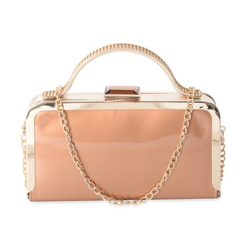 Boutique Collection Vintage Style Bags with High Glossed Golden Chain Strap (Size 20x11x4 Cm)