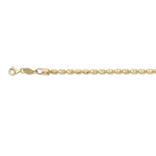 JCK Vegas Collection 14K Gold Overlay Sterling Silver Barrel Moon Bracelet (Size 8), Silver wt 5.03 Gms.