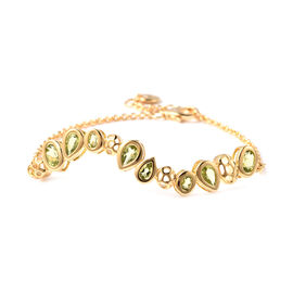 RACHEL GALLEY Misto Collection - Hebei Peridot Bracelet (Size 8) in Yellow Gold Overlay Sterling Sil