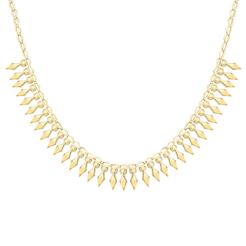 9K Yellow Gold Cleopatra Necklace (Size 17), Gold wt 6.30 Gms