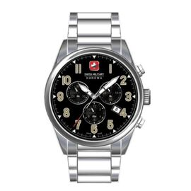 Swiss Military Hanowa Mens Sergeant Chrono Stainless Steel Bracelet Watch