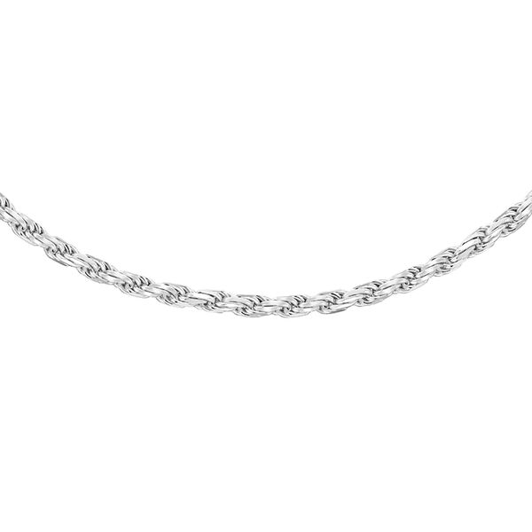 Sterling Silver Diamond Cut Rope Chain (Size 20) with Lobster Clasp, Silver wt 6.50 Gms