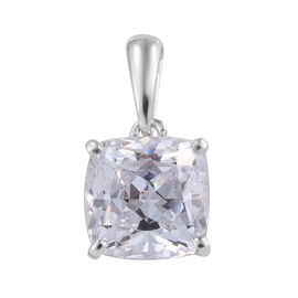 J Francis Made with Swarovski Zirconia Solitaire Pendant in 9K White Gold 1 Grams
