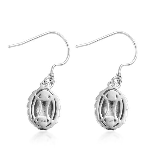Platinum Overlay Sterling Silver Earrings (with Hook)