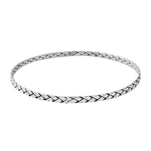 Sterling Silver Weave-Design Bangle (Size 8), Silver wt. 7.24 Gms
