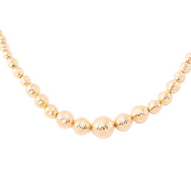 Beaded Necklace in 9K Gold 12.25 Grams Size 18 with 2 inch Extender