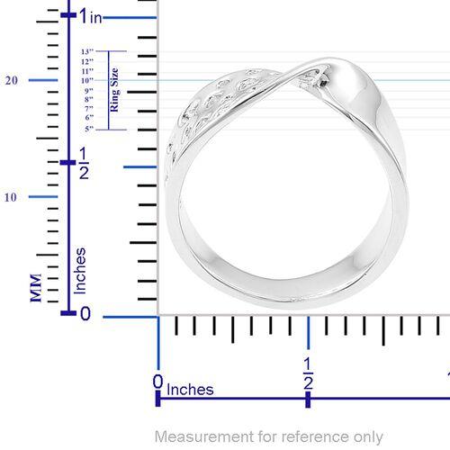 RACHEL GALLEY Rhodium Plated Sterling Silver Lattice Ring, Silver wt. 4.88 Gms.