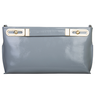 Bulaggi Collection - Polly Clutch Bag with Adjustable Shoulder Strap in Light Grey (Size 17x32x4Cm)