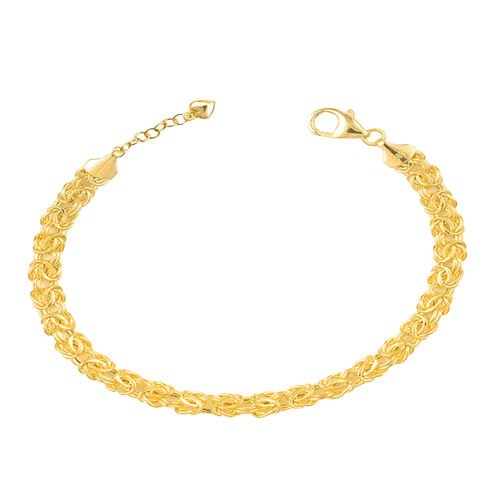 Vicenza Collection- 9K Yellow Gold Byzantine Bracelet (Size 7 with 1 inch Extender), Gold wt 4.02 Gms.