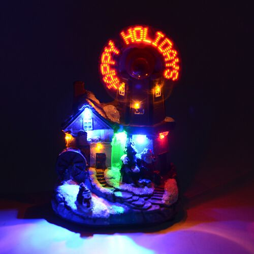 Xmas Decorations LED Music Box (Size 10.5x15x13.5 Cm) Multi Colour Light