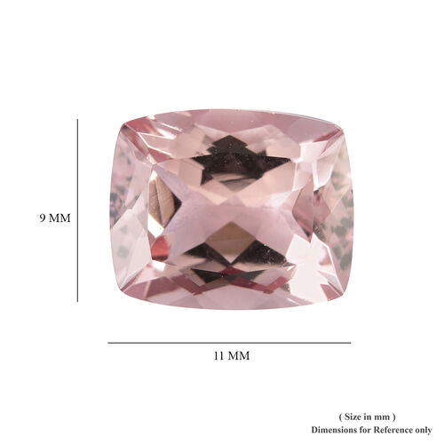AAA Pink Morganite Cushion 11x9 Faceted 4.65 Cts