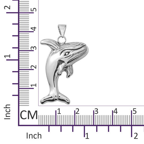 Limited Available- Designer Inspired- Sterling Silver Whale Pendant, Silver wt 5.00 Gms.