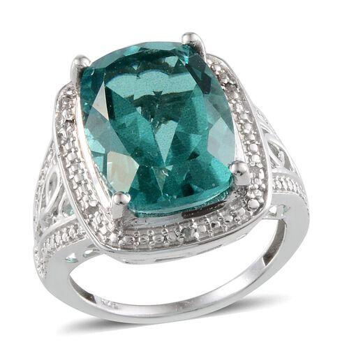 Paraiba Tourmaline Colour Quartz Cush 11 25 Ct Diamond