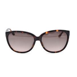 JUST CAVALLI Brown Tortoise Pattern Cat-Eye Sunglasses with Brown Lenses