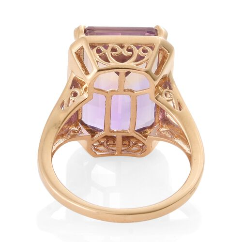 Collectors Edition - Anahi Ametrine (Oct) Ring in 14K Gold Overlay Sterling Silver 15.500 Ct.