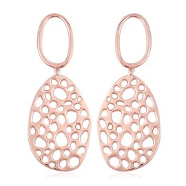 RACHEL GALLEY Lattice Drop Earrings in Rose Gold Plated Sterling Silver 16.52 Grams