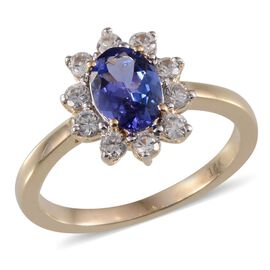 Close Out Deal 14K Y Gold AA Tanzanite (Ovl 0.75 Ct), Natural Cambodian Zircon Ring 1.150 Ct.
