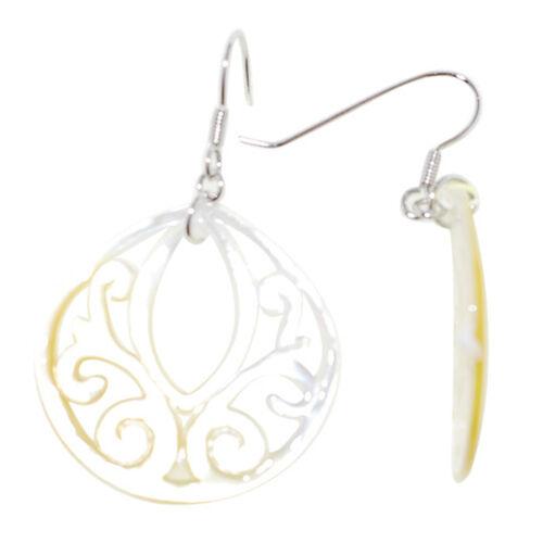 Shell Hook Earrings in Sterling Silver 15.000 Ct.