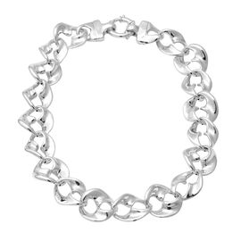 Chain Necklace in Rhodium Plated Sterling Silver 56.27 Grams 18 Inch