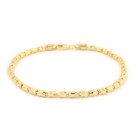 Vicenza Collection- Yellow Gold Overlay Sterling Silver Bracelet (Size 7.5), Silver wt 4.74 Gms.