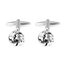 Knot Cufflinks in Silver Tone