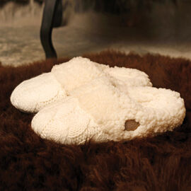 Aran Woollen Mills Slippers Cream