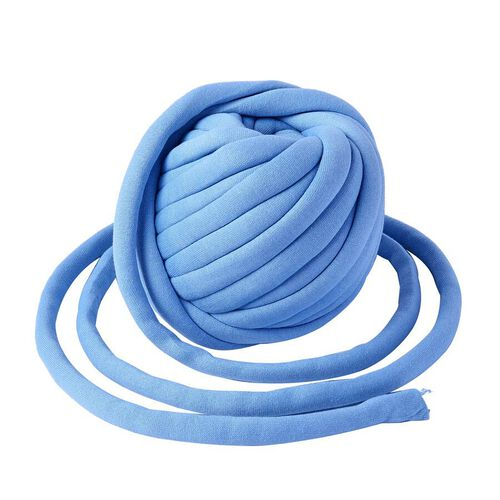 100% Cotton Filled Thick Rope in Light Blue (760cm)