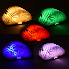 Rechargeable Folding LED Book Lamp with 7-Colour Night Light