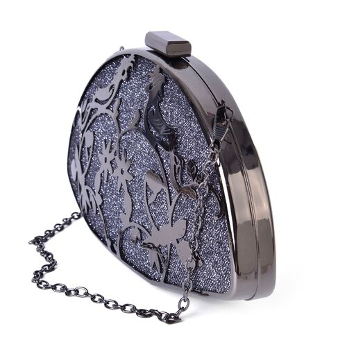Limited Collection Luxe Twinkling Birds Clutch with Chain Strap