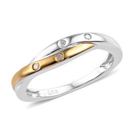 Diamond Ring in Sterling Silver
