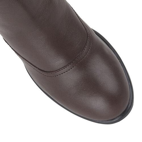 Lotus Bordo Leather Lark Heeled Ankle Boots (Size 3)