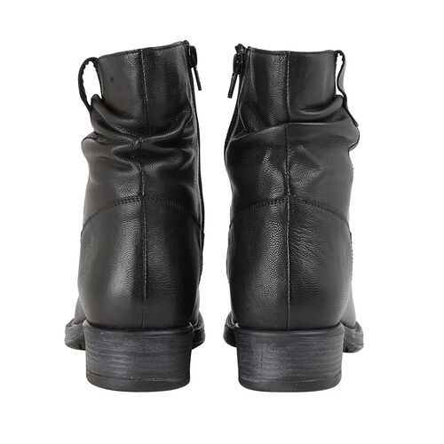Lotus Black Leather Eloisa Ankle Boots (Size 4)