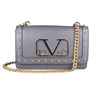 19V69 ITALIA by Alessandro Versace Crossbody Bag Detachable with Chain Strap (Size 27x6x17Cm) - Grey