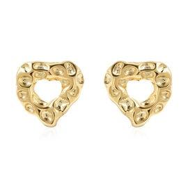 RACHEL GALLEY Yellow Gold Overlay Sterling Silver Heart Stud Earrings