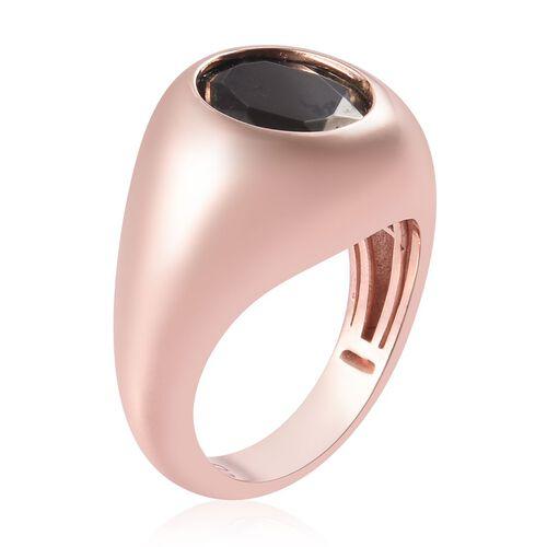 Elite Shungite Magnetic Solitaire Ring in Rose Gold Tone 1.00 Ct.