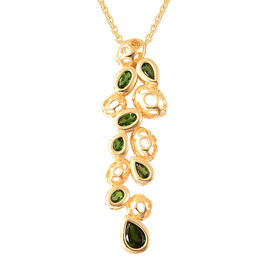 RACHEL GALLEY Misto Collection - Russian Diopside Pendant with Chain (Size 20)  in Yellow Gold Overl