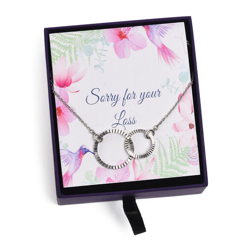 Platinum Overlay Sterling Silver Inter-Loop Necklace (Size 18)
